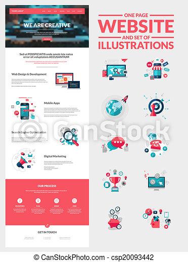 ウェブサイト, デザイン, ページ, テンプレート, 1(人・つ) - csp20093442