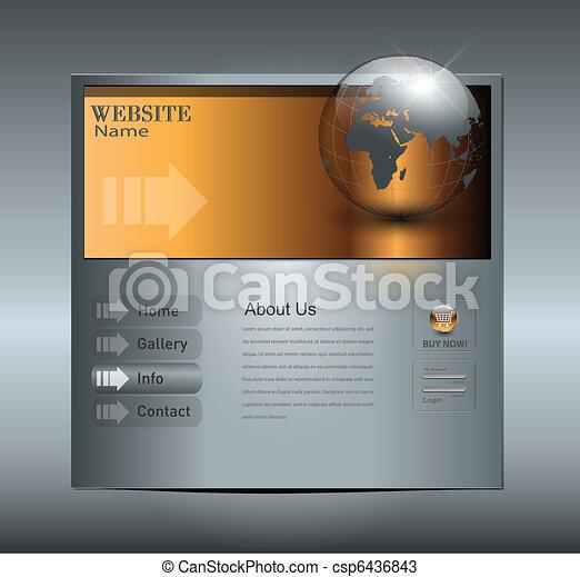 ウェブサイト, ビジネス, テンプレート - csp6436843