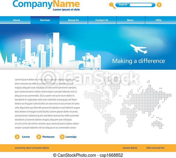 ウェブサイト, ベクトル, テンプレート - csp1668852