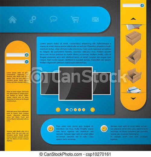 ウェブサイト, ラベル, デザイン, テンプレート - csp10270161