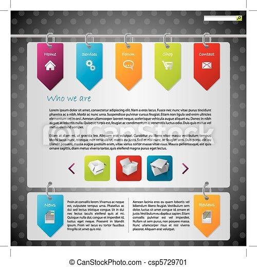 ウェブサイト, ラベル, デザイン, 掛かること - csp5729701