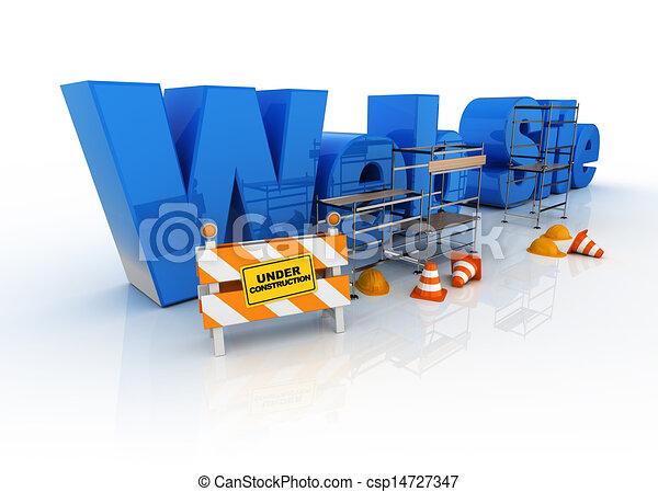 ウェブサイト, 建築物, 下に - csp14727347