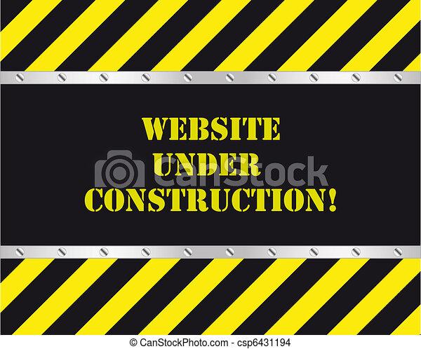 ウェブサイト, 建設, 下に - csp6431194