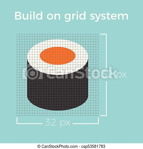 ウェブサイト, 情報, について, smartphone, 平ら, グラフィック, システム, 適用, ベクトル, デザイン, グリッド線, アイコン - csp53581783