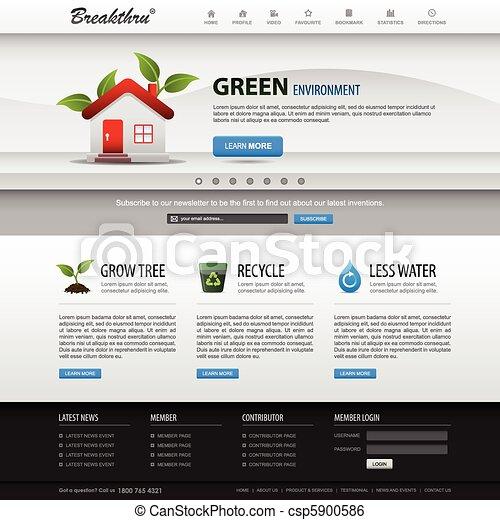 ウェブサイト, 網の設計, テンプレート, 要素 - csp5900586