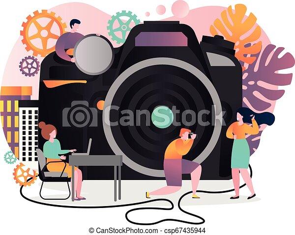 ウェブサイト, 網, 概念, 旗, 写真撮影, ベクトル, ページ - csp67435944