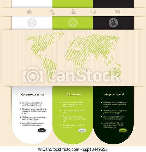 ウェブサイト, 色, デザイン, 対照, テンプレート - csp13449555