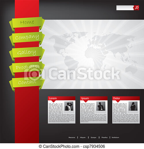ウェブサイト, 色, デザイン, 涼しい - csp7934506