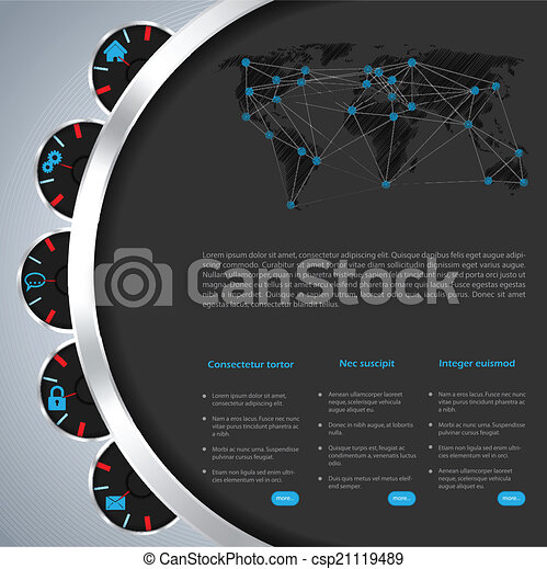ウェブサイト, 道具, デザイン, テンプレート - csp21119489