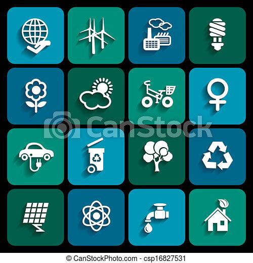 エコロジー, アイコン - csp16827531