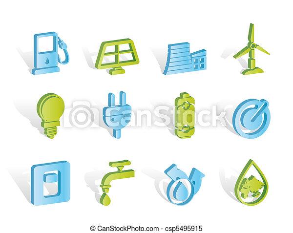 エコロジー, エネルギー, 力, アイコン - csp5495915