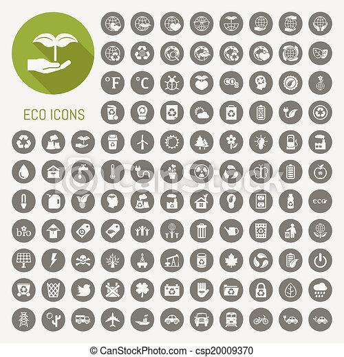 エコロジー, セット, アイコン - csp20009370