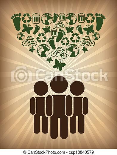 エコロジー, デザイン - csp18840579