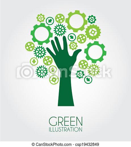 エコロジー, デザイン - csp19432849