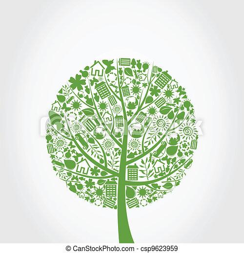 エコロジー, 木 - csp9623959