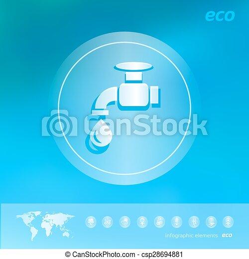 エコロジー, 背景, ぼんやりさせられた, アイコン - csp28694881