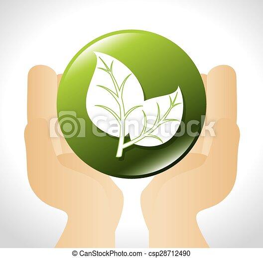 エコロジー, design. - csp28712490