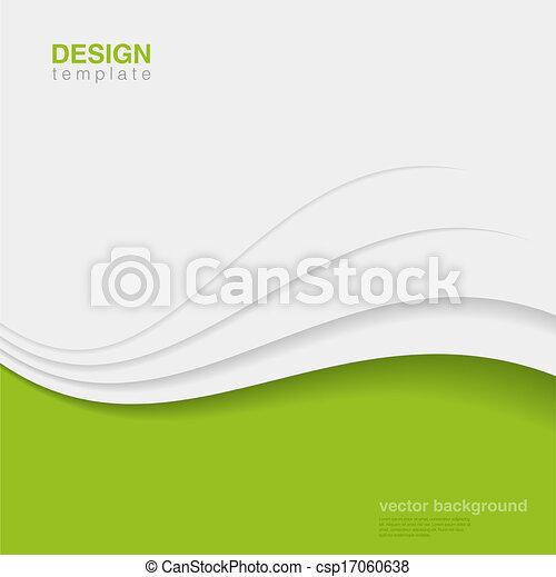 エコロジー, vector., eco, 抽象的, 創造的, デザイン, 背景 - csp17060638