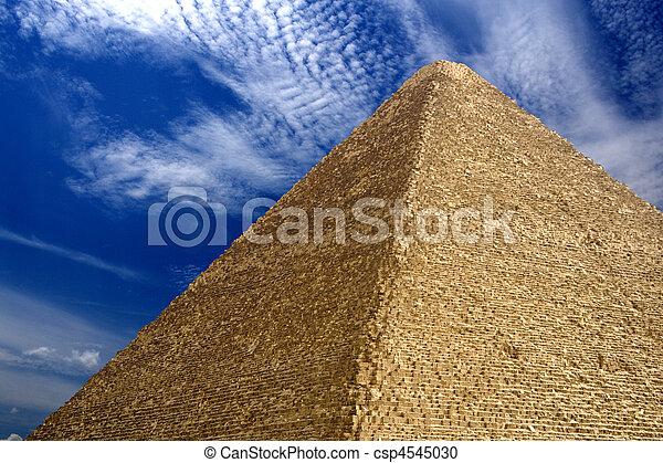 エジプトのピラミッド, 偉人 - csp4545030