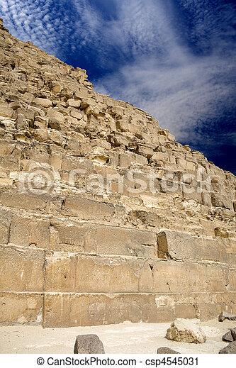 エジプトのピラミッド, 偉人 - csp4545031