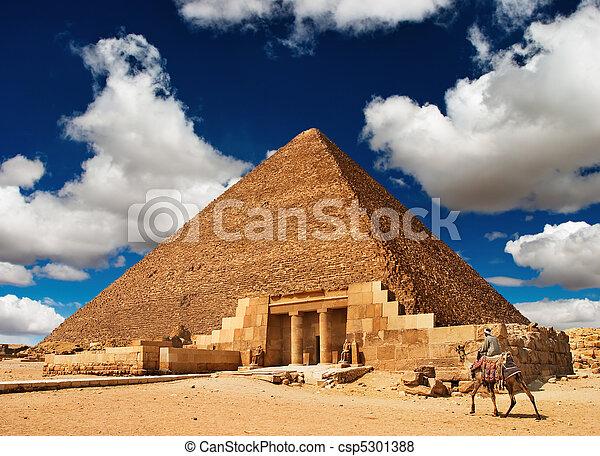 エジプトのピラミッド - csp5301388