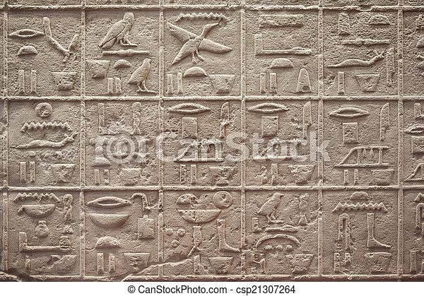 エジプトの hieroglyphics, 執筆 - csp21307264