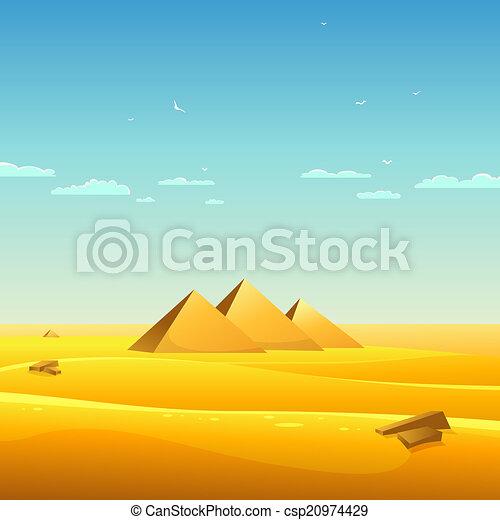 エジプト人, ピラミッド - csp20974429