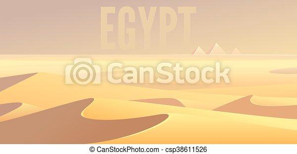 エジプト人, ピラミッド - csp38611526