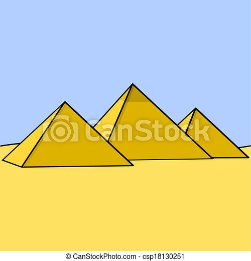 エジプト人, ピラミッド - csp18130251
