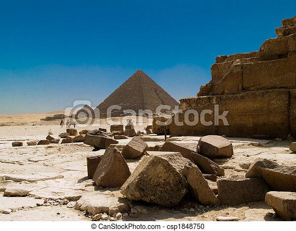 エジプト人, ピラミッド - csp1848750