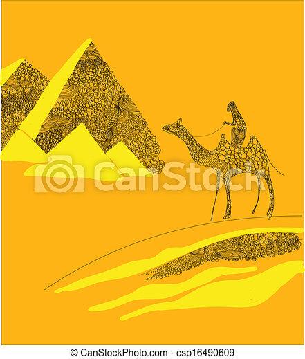 エジプト人, ピラミッド - csp16490609