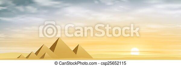 エジプト人, ピラミッド - csp25652115