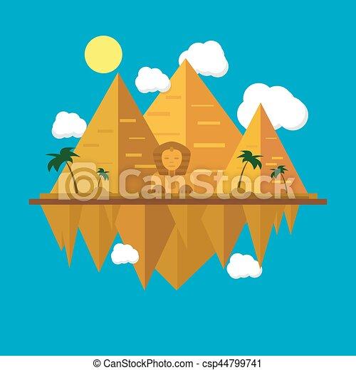 エジプト人, ピラミッド - csp44799741