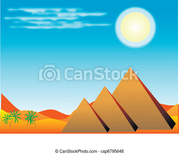 エジプト人, ピラミッド - csp6795648
