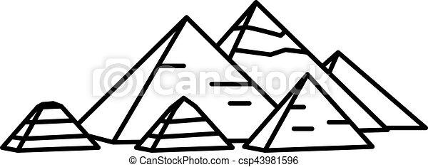 エジプト人, 古代, ピラミッド - csp43981596