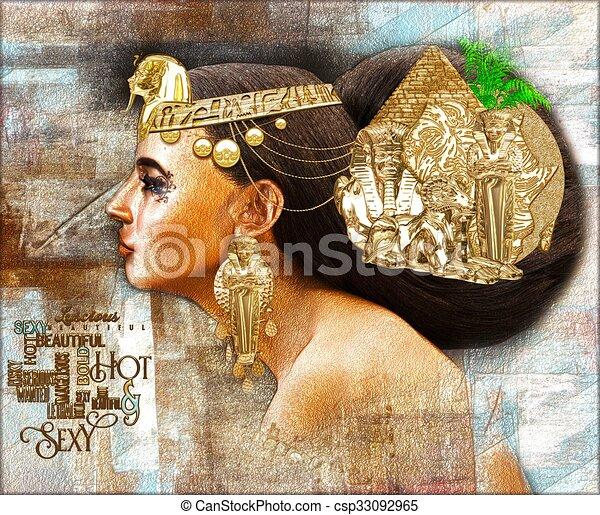 エジプト人, 女 - csp33092965