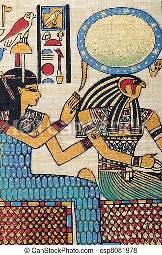 エジプト人, 概念, パピルス, 歴史 - csp8081978