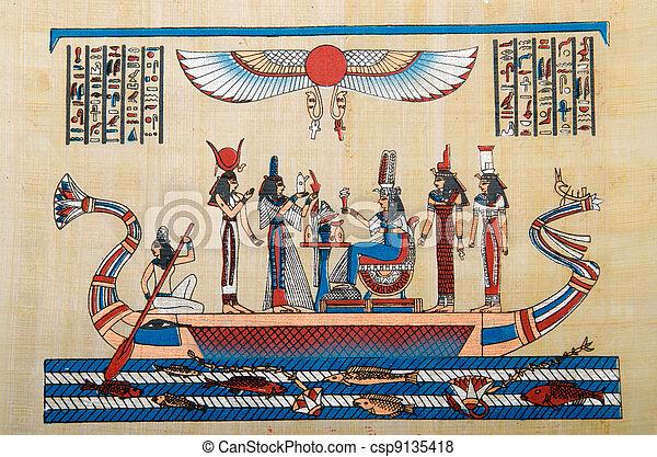 エジプト人, 概念, パピルス, 歴史 - csp9135418