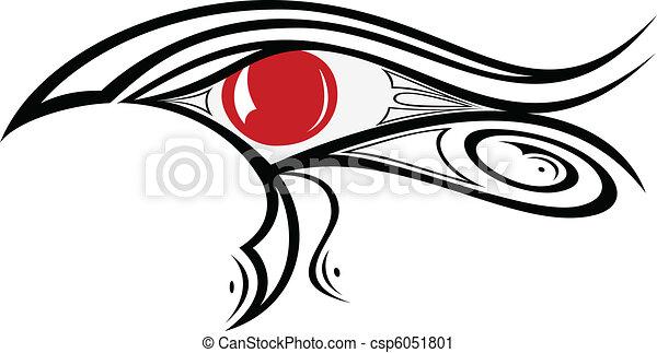 エジプト人, 目, ra, 1 - csp6051801