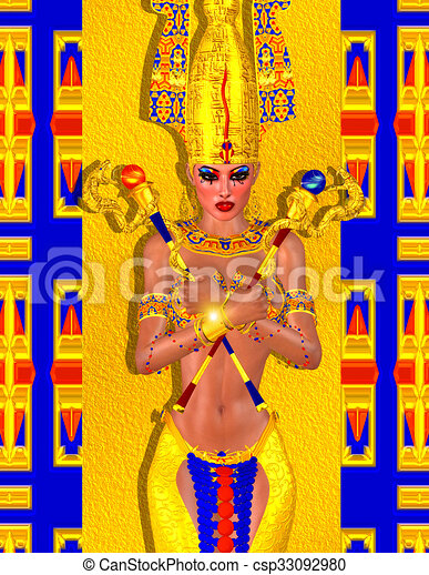 エジプト人, 芸術, ファンタジー - csp33092980