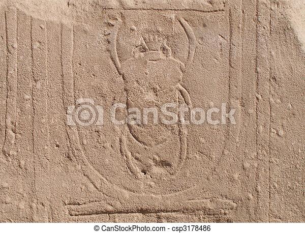 エジプト人, 象形文字 - csp3178486