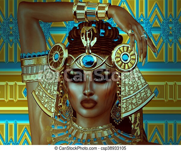 エジプト人, cleopatra, ファンタジー - csp38933105