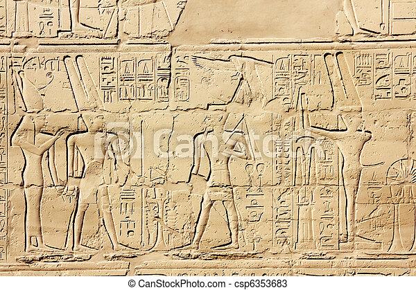 エジプト, イメージ, 古代, hieroglyphics - csp6353683