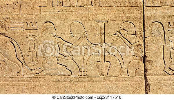 エジプト, イメージ, 古代, hieroglyphics - csp23117510