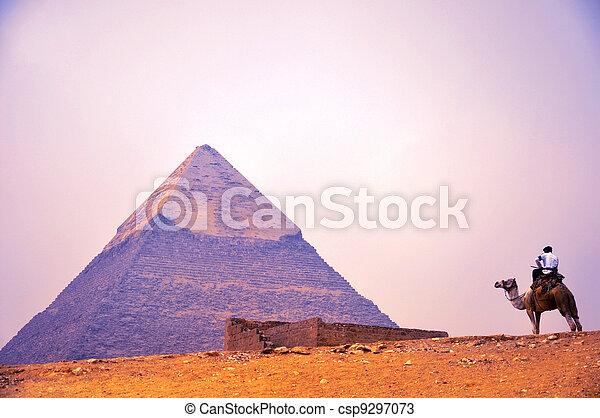 エジプト, カイロ, ピラミッド, ギザ - csp9297073