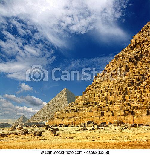 エジプト, カイロ, ピラミッド, ギザ - csp6283368