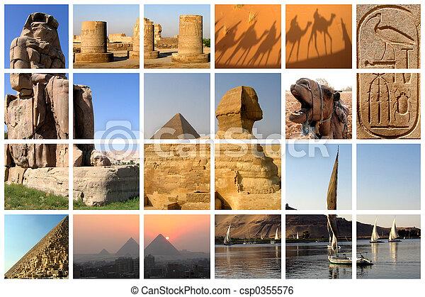 エジプト, コラージュ - csp0355576
