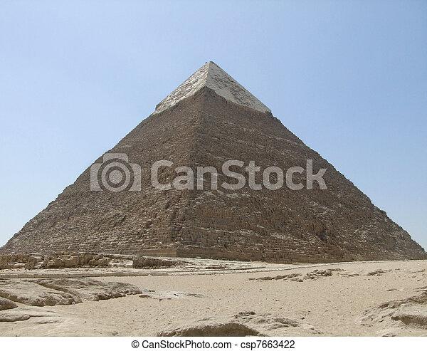 エジプト, ピラミッド, khafre - csp7663422