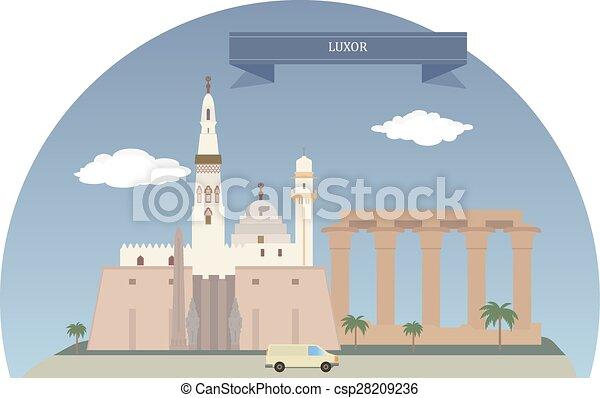 エジプト, ルクソール - csp28209236