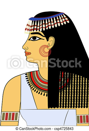 エジプト, 古代, 女, -, ベクトル - csp4725843